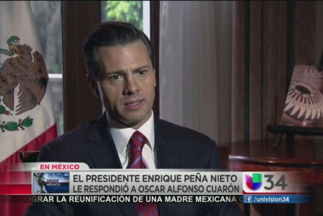 ¿Y qué respondió Peña-Nieto?: A pocos días de recibir el reto de Cuarón,...