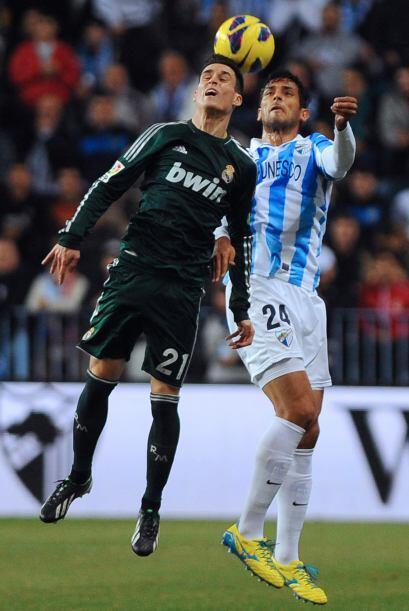 Ahora con el Málaga, Roque vivió una noche especial en el...