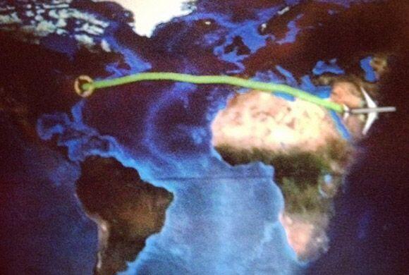 Primera parada Qatar. Un vuelo más y llegan a su destino. (Junio 7, 2014)