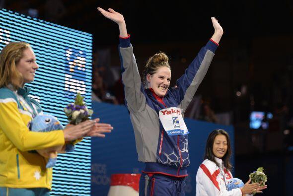 La estadounidense Missy Franklin se llevó el oro en los 100 metro...