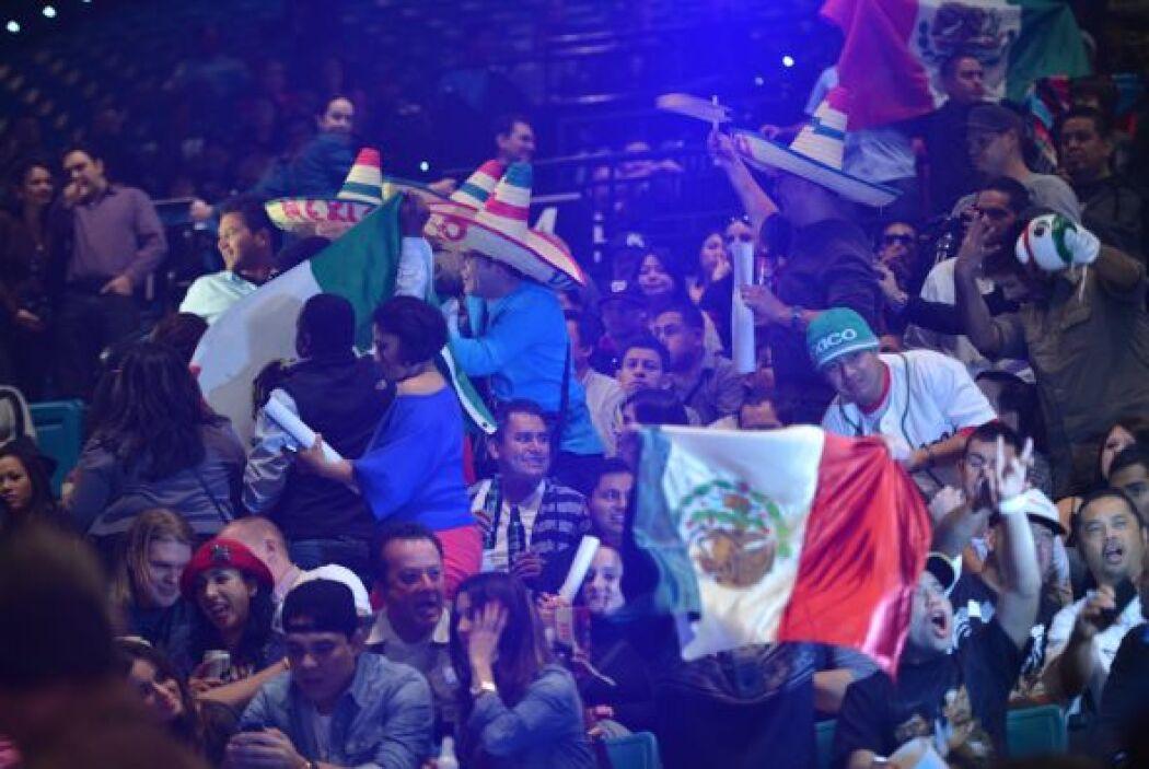Los gritos de México inundaron la Arena.