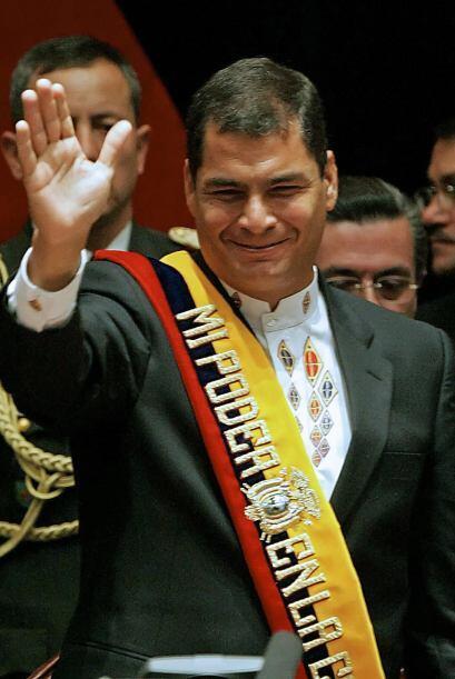 2006: Correa fue elegido para el período 2007-2011 con el 56.7% de los v...