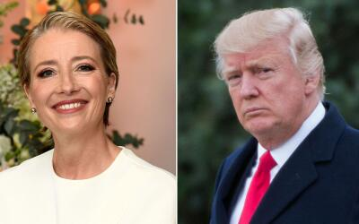 Emma Thompson y Donald Trump