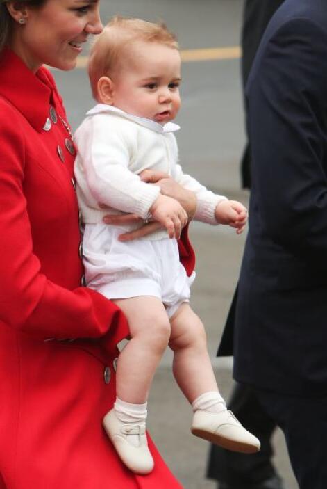 Parece que el pequeño George ya está bastante acostumbrado al trato con...