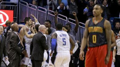 Vucevic lideró a Orlando con 22 puntos y nueve rebotes.