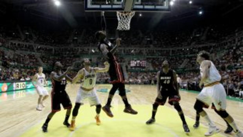 Miami Heat vs. Cleveland Cavaliers en Río de Janeiro.
