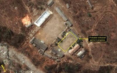 La imagen satelital se da a conocer en momentos en que se cree que Pyong...
