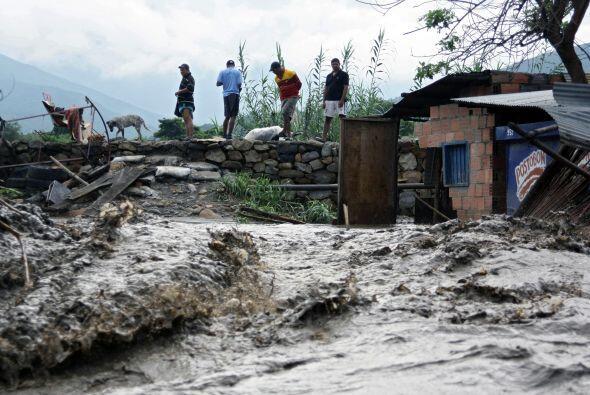 Las fuertes lluvias que cayeron principalmente sobre la franja norte de...