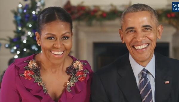 En video: el último mensaje navideño de los Obama desde la Casa Blanca