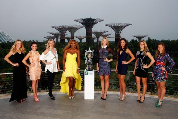 De izquierda a derecha: Caroline Wozniacki, Agnieszka Radwanska,Petra Kv...