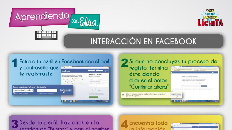 Mira el tutorial de Aprendiendo Con Elsa: Aprende a usar Facebook aprend...