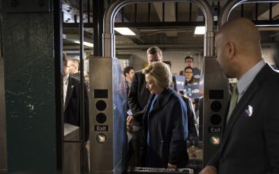 Hillary Clinton no podía entrar.