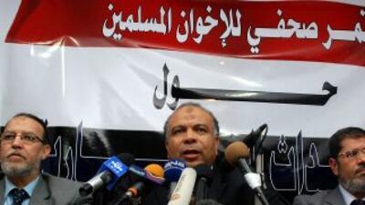 Durante un diálogo nacional sobre la crisis en Egipto, los Hermanos Musu...