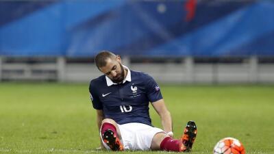 Benzema se lesionó en el partido contra Armenia.
