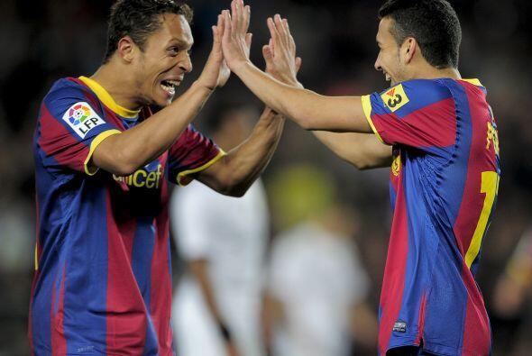 Pedro Rodríguez y Bojan aumentaron la ventaja en una goleada impo...