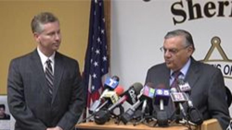 Sheriff Joe Arpaio y ex-fiscal Andrew Thomas