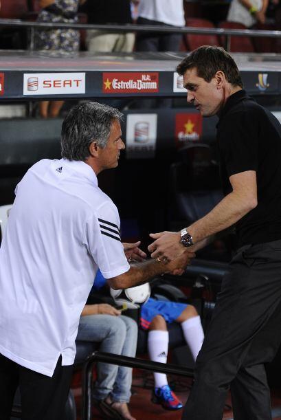 Pero la caballerosidad no faltó en el estadio y Vilanova, ahora técnico...