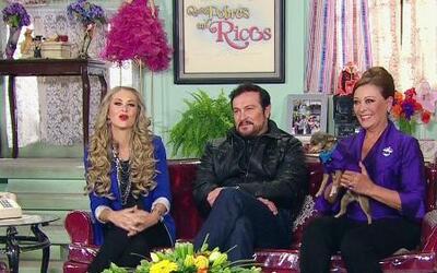 Sylvia Pasquel, Ingrid Martz y Arturo Peniche en Qué Pobres tan Ricos