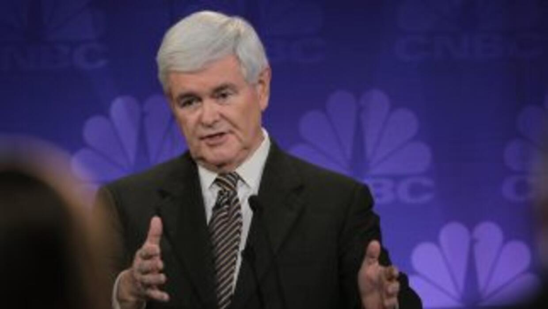 Newt Gingrich dejó los últimos lugares en la intención de voto tras la d...