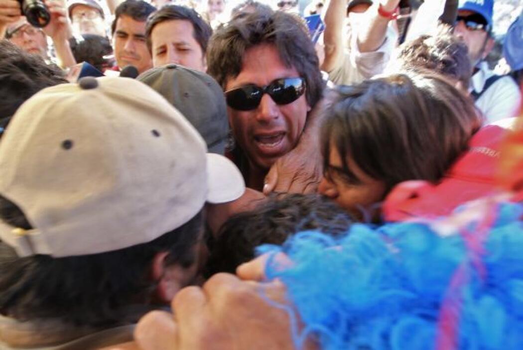 El número de la suerte de René Ávalos es el 25. El minero rescatado, de...