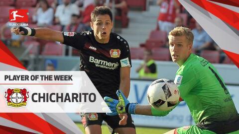 'Chicharito' anotó tres goles ante el Mainz en la fecha cinco de...