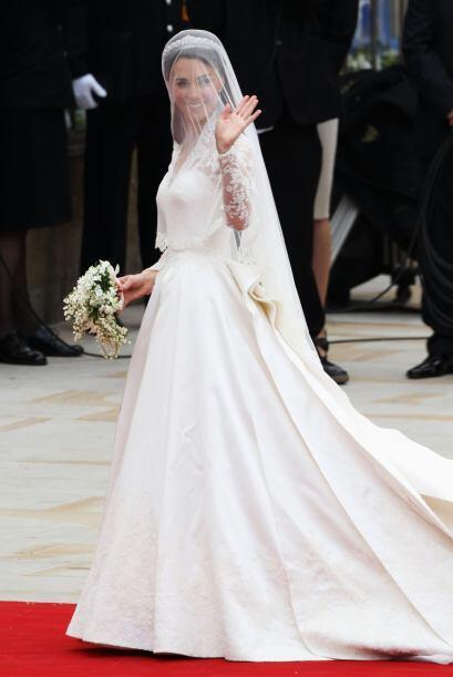 ¡Qué momento más emotivo! La llegada de Kate Middleton.