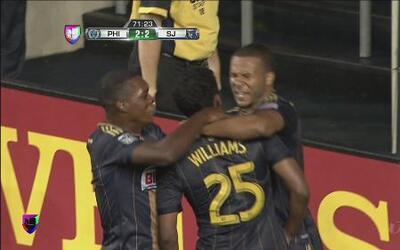 Philadelphia Union venció 4-2 a San José en la MLS