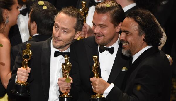 Lubezki, Iñarritu y DiCaprio. Óscar