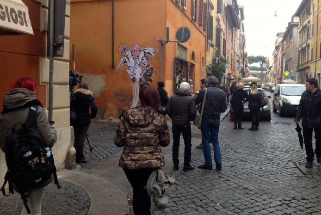 Pero su idea de representar a Jorge Mario Bergoglio como los ídolos de l...