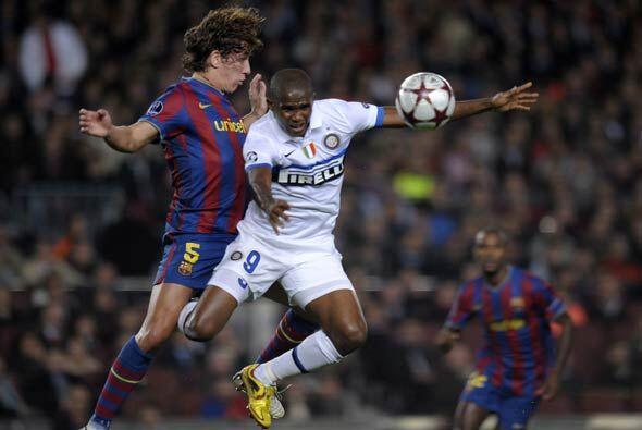 """Eto'o regresó al """"Camp Nou' y fue recibido con aplausos, aun..."""