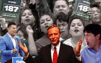 El gobernador Pete Wilson explotó el miedo a los indocumentados p...