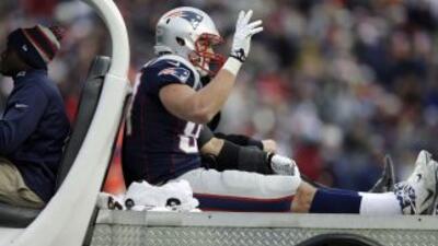 Rob Gronkowski está recuperándose de su lesión (AP-NFL).