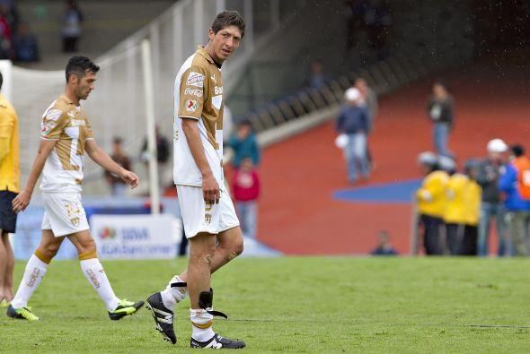 En el Apertura 2013 los Pumas tuvieron sólo 2 empates en 4 juegos, suman...