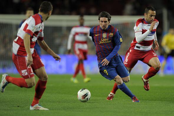 Mientras tanto todas las miradas estaban puestas en Lionel Messi.