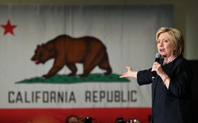 Hillary Clinton en un mitin en San José, California (05/26/2016).