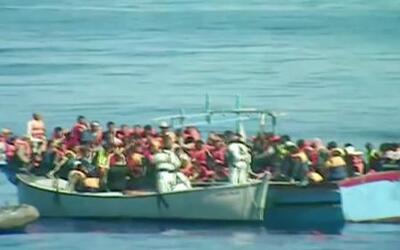Más de 5 mil indocumentados fueron rescatados en el Mar Mediterráneo