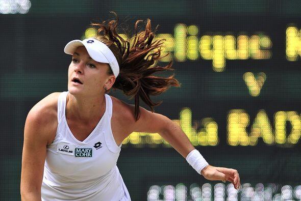 """En el octavo juego, Radwanska consiguió su segundo """"break&qu..."""