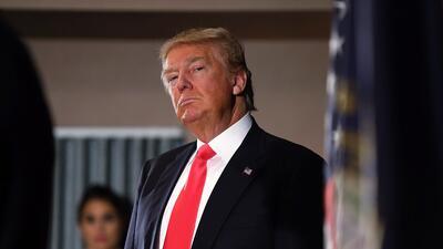 Donald Trump en un evento político en New Hampshire