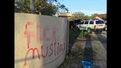 Dejan mensajes de odio en escuela islámica