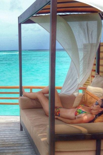 Ana Patricia feliz, relajada y disfrutando de las mejores vacaciones de...