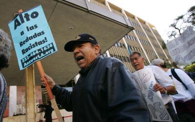 Protesta contra las redadas
