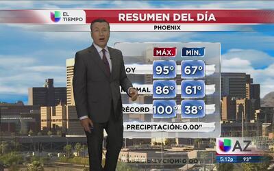 Martes caluroso en Phoenix