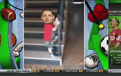 Así fue la caída por las escaleras de Chicharito Hernández