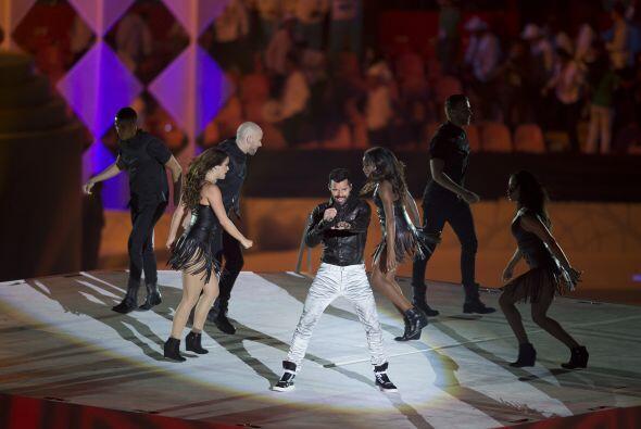 Ricky Martin cerró la ceremonia de inauguración.