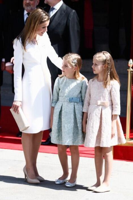 La Princesa de Asturias y la infanta Sofía lucieron el mismo diseño en d...