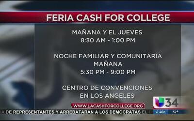 'Cash for College' jornada especial