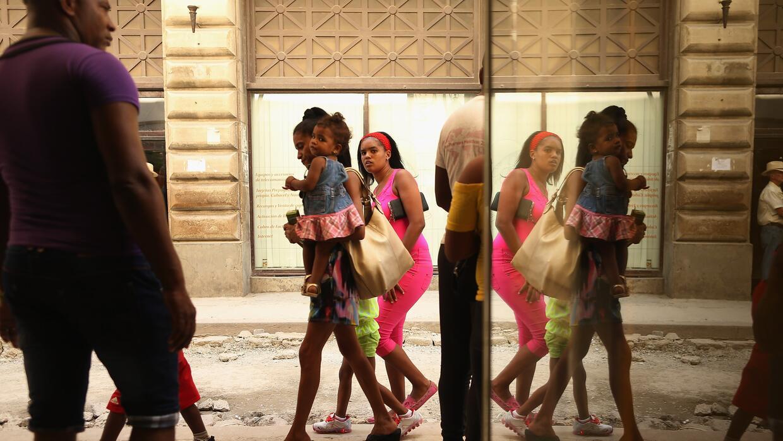 Mujeres en un mercado de La Habana.