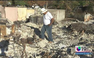 Ayuda a inmigrantes víctimas de incendios