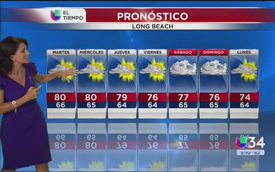Temperaturas cálidas para el sur de California