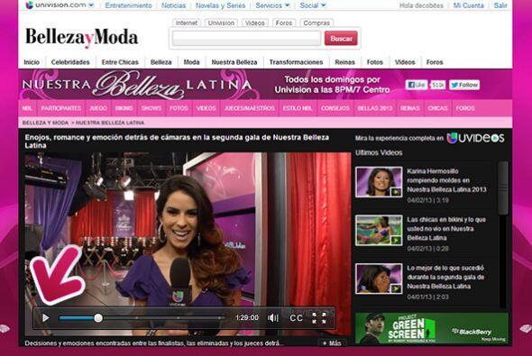 Suma UniPuntos al ver videos y fotos de  Nuestra Belleza Latina.